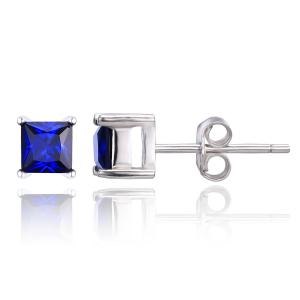 Cercei Borealy Safir 1 carat Argint 925 Princess2