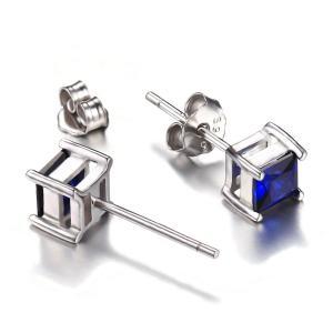 Cercei Borealy Safir 1 carat Argint 925 Princess4