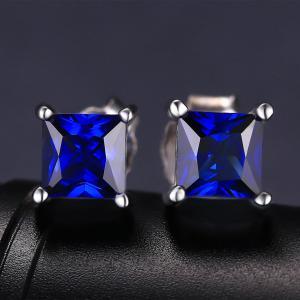 Cercei Borealy Safir 1 carat Argint 925 Princess3