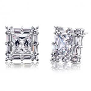 Cercei Borealy Argint 925 Diamonds Square Princess1