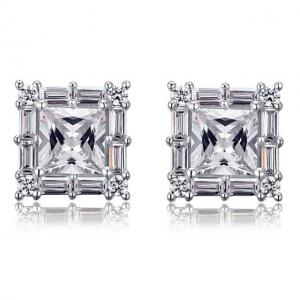 Cercei Borealy Argint 925 Diamonds Square Princess0