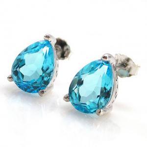 Cercei Topaz Natural Blue London 3,20 carate4