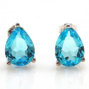 Cercei Topaz Natural Blue London 3,20 carate0