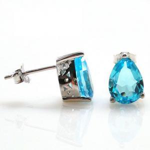 Cercei Topaz Natural Blue London 3,20 carate1