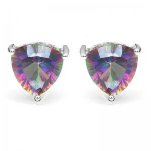 Cercei Triangle Rainbow Topaz 5 carate Argint 9250