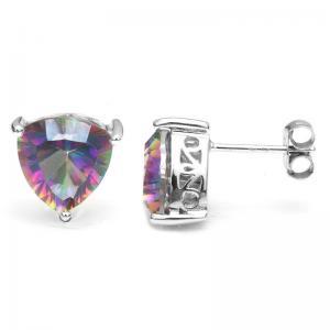 Cercei Triangle Rainbow Topaz 5 carate Argint 9251