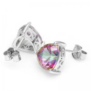 Cercei Triangle Rainbow Topaz 5 carate Argint 9253