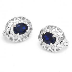 Cercei Borealy Argint 92 Safir True Blue1