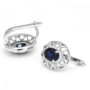 Cercei Borealy Argint 92 Safir True Blue2
