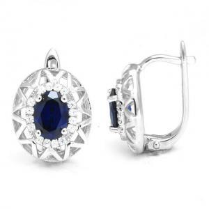 Cercei Borealy Argint 92 Safir True Blue3