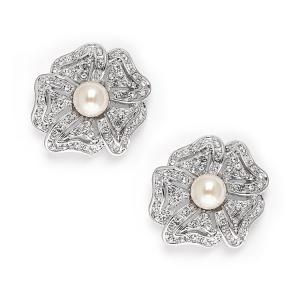 Cercei Borealy Argint 925 Pearl Flower Vintage0