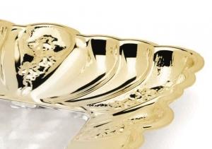 Bol placat cu argint și aur galben CESTINO INDIA by Chinelli, made in Italy1