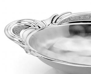 Bol GRAN PORTATA SERA placat cu argint by Chinelli, made in Italy1