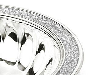Bol Melody placat cu argint și margine glitter by Chinelli, made in Italy2