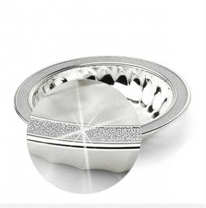Bol Melody placat cu argint și margine glitter by Chinelli, made in Italy1