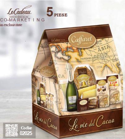 Cod de Craciun Le vie Del Cacao - 5 piese, made in Italy0