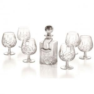 Cognac Set With Crystal Bottle Silver Plated by Chinelli0