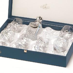 Cognac Set With Crystal Bottle Silver Plated by Chinelli2