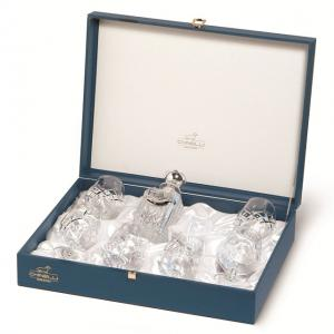 Cognac Set With Crystal Bottle Silver Plated by Chinelli1