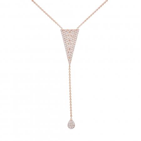 Colier aur rose18k cu diamante