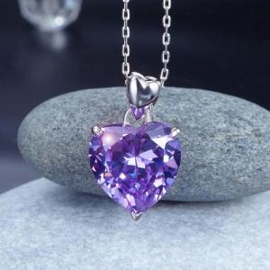 Set Borealy Argint Colier si Cercei Purple Amour5