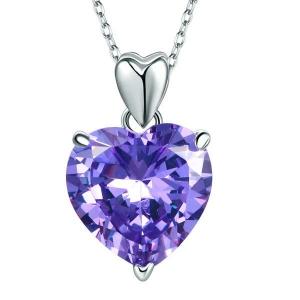 Set Borealy Argint Colier si Cercei Purple Amour6