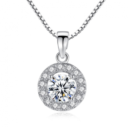 Colier Borealy Diamond Halo One0