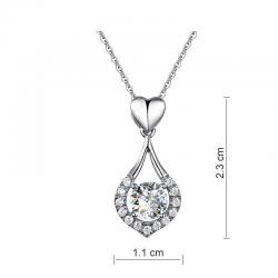 Colier Borealy Argint 925 Heart Drop Simulated Diamonds2