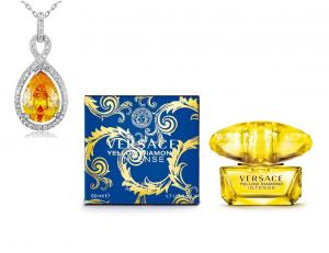 Versace Yellow Diamonds  & Colier Borealy Argint 925 Yellow Sapphire Fancy1