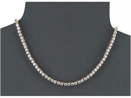 Colier Borealy Small Diamonds Tennis Gold1