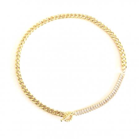 Colier Chain & Tennis Gold0