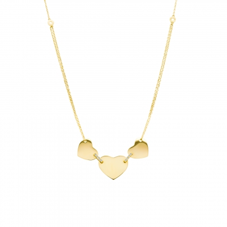 Colier din aur galben 18k cu diamante personalizabil