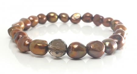 Set Colier si Bratara din Perle Naturale Bronze [3]