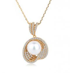 Colier Borealy Gold Shell Pearl
