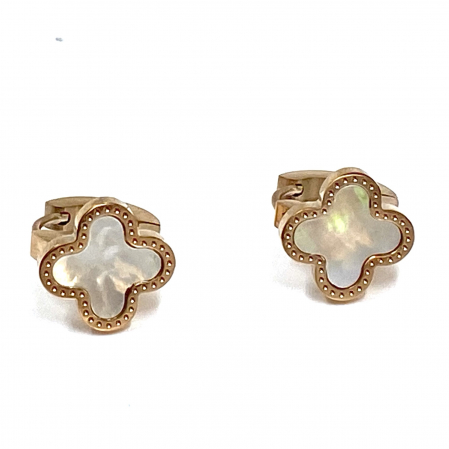 Cercei Mother of Pearl Clover2
