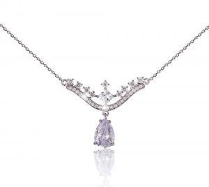 Colier Borealy Argint 925 Romantic Bride Pear Drop1
