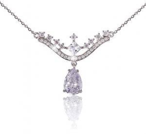 Colier Borealy Argint 925 Romantic Bride Pear Drop0