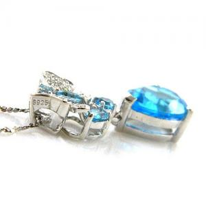 Colier Butterfly Topaz Natural Blue London 4,30 carate3