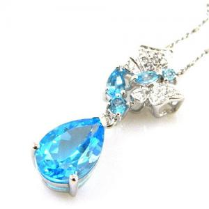 Colier Butterfly Topaz Natural Blue London 4,30 carate2