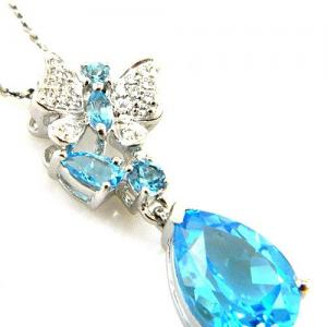 Colier Butterfly Topaz Natural Blue London 4,30 carate4