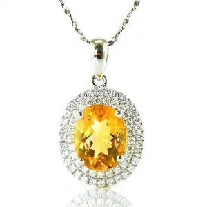 Citrine Luxury 3,15 carate - pietre preţioase naturale & Argint 9250