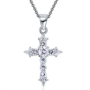 Colier Cross Diamonds Argint 925