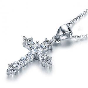 Colier Cross Diamonds Argint 9252
