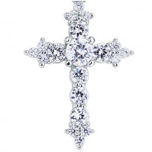 Colier Cross Diamonds Argint 9251