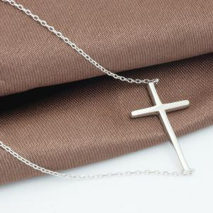 Colier Cross Solid Argint 9251