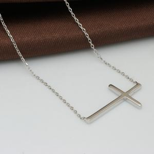 Colier Cross Solid Argint 9253