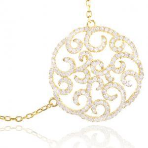 Colier Borealy Argint 925 Dantelle Duchesse Gold2