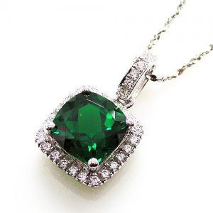 Colier Delicate Luxury Smarald 2.14 Carate Argint2