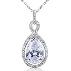Colier Borealy Argint 925 Simulated Diamonds Drop0