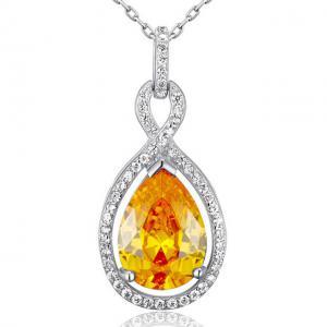 Colier Borealy Argint 925 Yellow Sapphire Fancy0